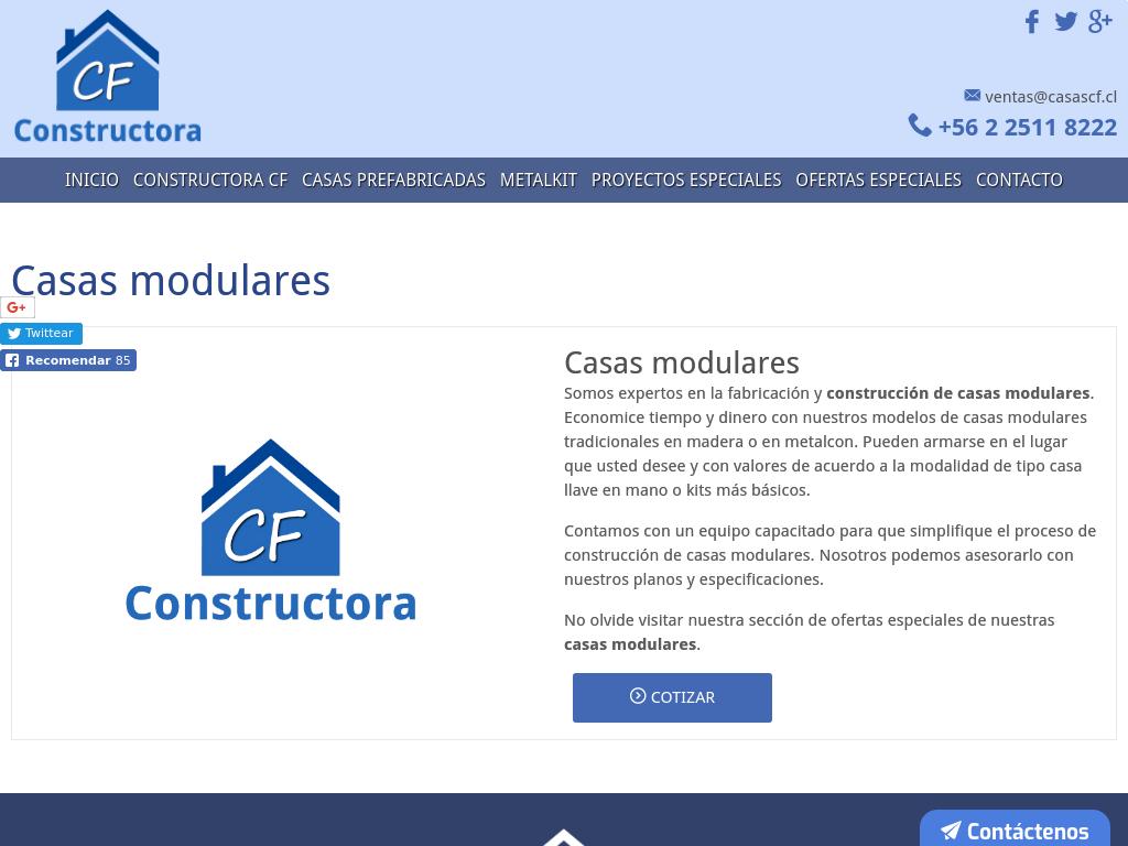 Casas Prefabricadas Cf Casas Modulares Casas De Madera Y Metalcom